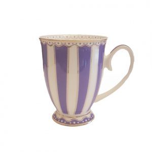 Christiana Purple And White Stripe Mug