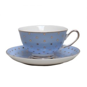 Christiana Miss Alice Cup And Saucer Blue