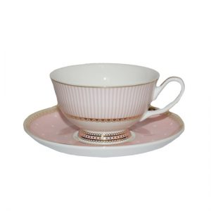 Christiana Miss Alice Cup And Saucer Pink Stripe