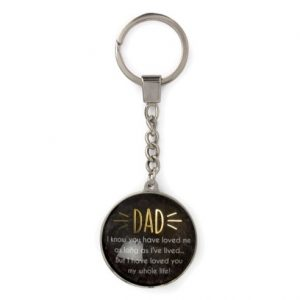 Keyring Black Marble DAD I Know You Have