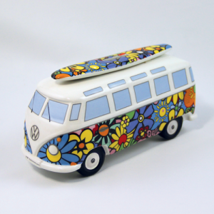 VW Money Box Bus Surf Edition Flowers