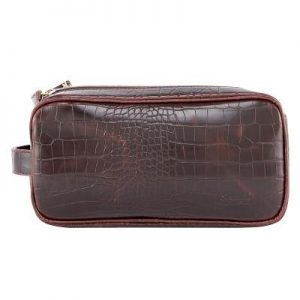 Rome Faux Leather Mens Wetpack Brown