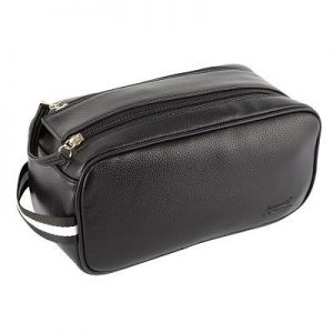 Rome Faux Leather Mens Wetpack Black