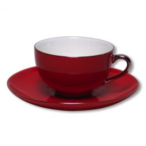 Christiana Lady Sienna Red Tea Cups