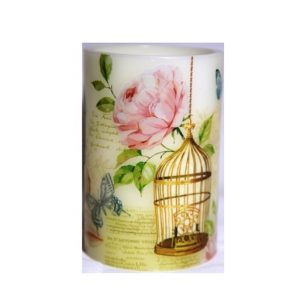 Led Decorative Pillar Candle Gilded Cage