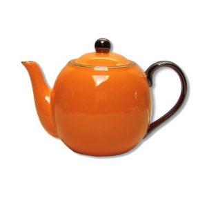 Christiana Lady Sienna Orange Teapot