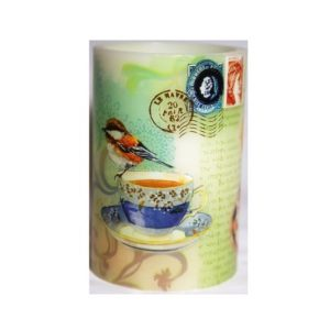 Led Decorative Pillar Candle Teacups and Twitter