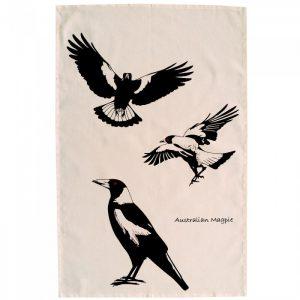 Australian Magpie Cotton Tea Towel