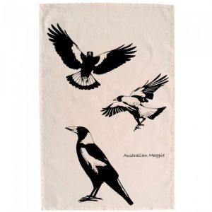 Australian Magpie Cotton Tea Towel
