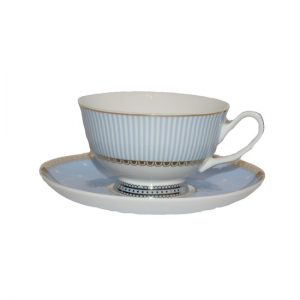 Christiana Miss Alice Cup And Saucer Blue Stripe