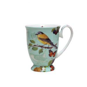Butterfly Blue Pedestal Mug