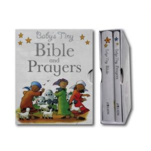 Baby's Tiny Bible And Prayer Book Gift Box