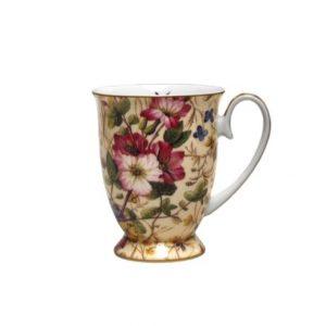Floral Ivory Pedestal Mug