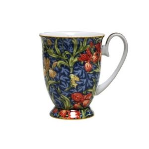 Floral Decor Pedestal Mug