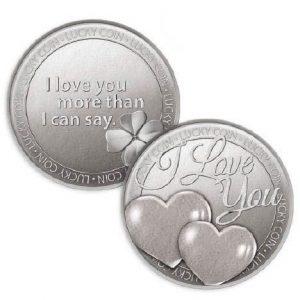 Lucky Coin I Love You Hearts