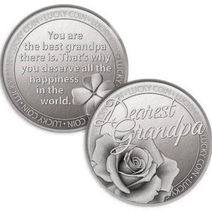 Lucky Coin Dearest Grandpa