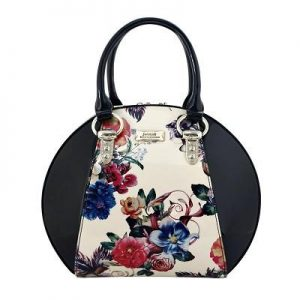 Serenade Spring Patent Leather Bowling Handbag