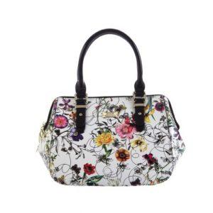 Serenade Botanics Grip Handle Leather Handbag