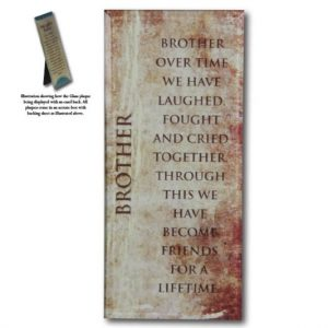 Message Mirror Plaque Brother
