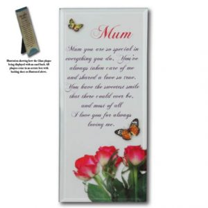 Message Mirror Plaque Mum
