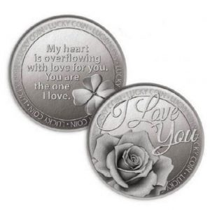 Lucky Coin I Love You Rose