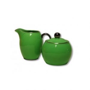 Christiana Lady Sienna Green Sugar And Creamer Set