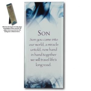 Message Mirror Plaque Son