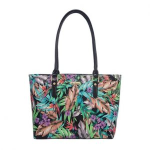 Miss Serenade Faux Leather Jungle Tote Bag