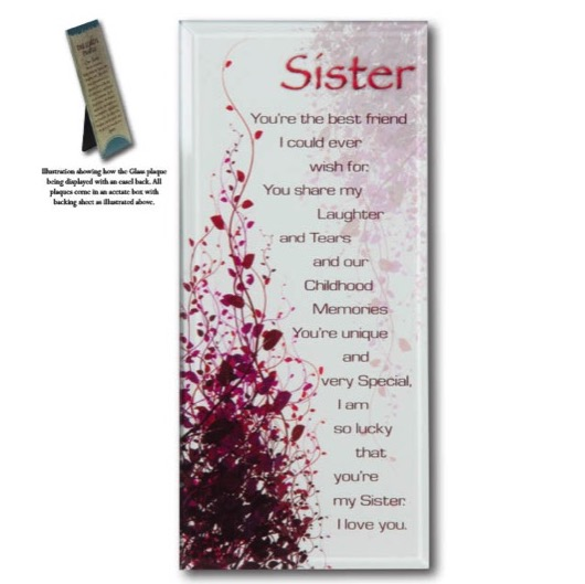 Message Mirror Plaque Sister