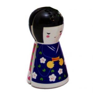 Japanese Doll Magnetic Salt and Pepper 10cm