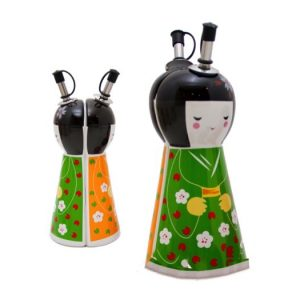 Japanese Doll Magnetic Oil and Vinegar 21cm