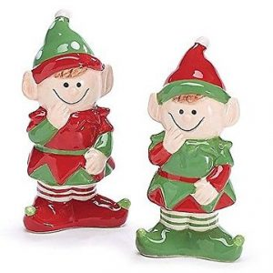 Pixie Elf Holiday Christmas Salt and Pepper Shakers