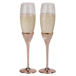 Champagne Flutes Rose Gold Glasses