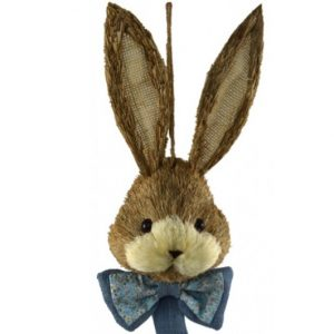 Straw Bunny Boy Hanging Head Bow