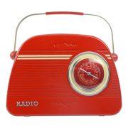 Retro Red Radio Biscuit Tin