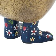 Ducky With Blue Floral Welly Boots