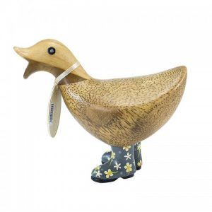 Ducky With Grey Floral Welly Boots