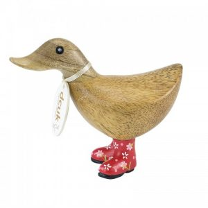 Ducky With Red Floral Welly Boots