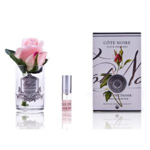 Côte Noire Cherry Blossom Rose Bud Clear Glass