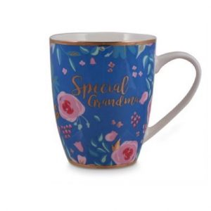 Special Special Grandma Blue Floral Bullet Mug