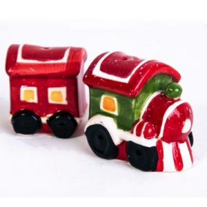 Christmas Train Salt And Pepper Shakers