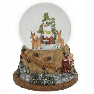 Rotating Deer Snowing Waterball Music/LED