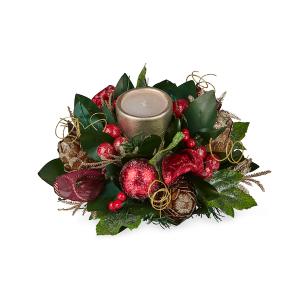 Burgundy Ficcus Round Candle Pot 30cm