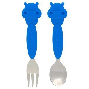 Marcus & Marcus Spoon And Fork Set Hippo