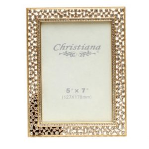 Gold Picture Frame With Austrian Crystals