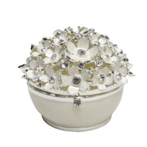 Crystal Set Daisy Trinket Box