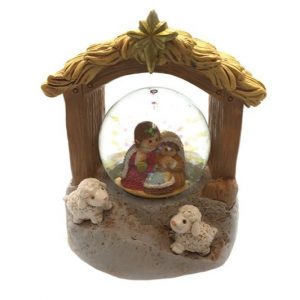 Holy Family Nativity Snow Globe
