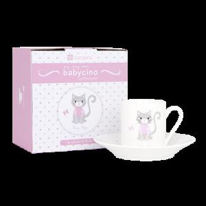 Ashdene Babycino Pretty Kitty Cup And Saucer