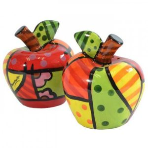 Britto Salt And Pepper Shakers Apple