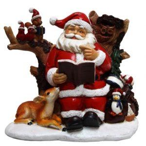 Santa Reading Figurine